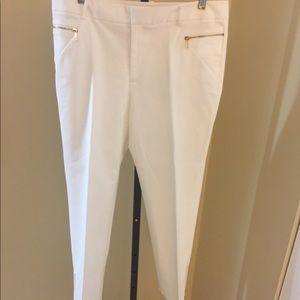 Women's Calvin Klein White Cropped Pant